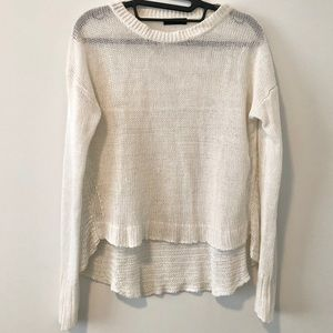 J.Crew   White Netted Knit